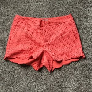 Elle Coral Scalloped Shorts